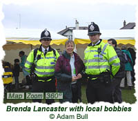 Cllr. Brenda Lancaster with local bobbies