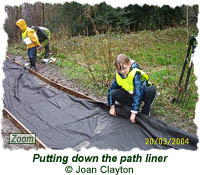 Putting down the path liner