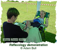 Reflexology demonstration