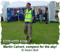 Martin Calvert, compere for the day