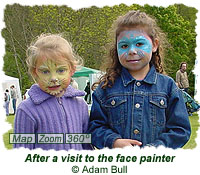 After a visit to the face painter