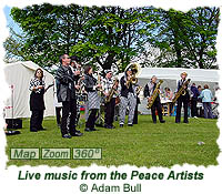 Live music from the Peace Artists