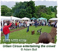 Urban Circus entertaining the crowd