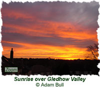 Sunrise over Gledhow Valley