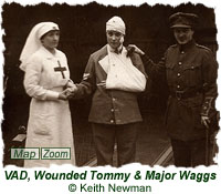 VAD, Wounded Tommy & Major Waggs