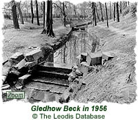 Gledhow Beck in 1956